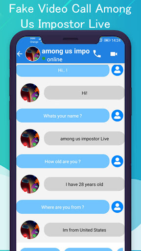 Video call from Among Us Impostors simulation