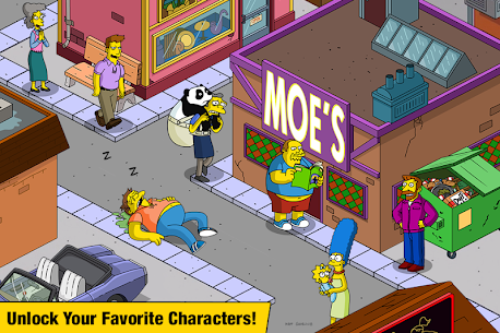 The Simpsons:  Tapped Out Mod Apk (Free Shopping) 2