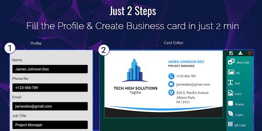Business Card Maker Free Visiting Card Maker photo  Screenshots 9