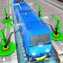 Advance Train Wash Simulator: Train Driving Games APK