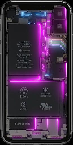 Phone Electricity Live Wallpaper  Screenshots 1