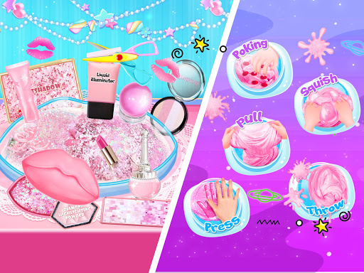 Pink Lipstick Makeup Slime 1.3 screenshots 10