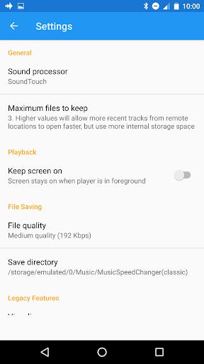 Music Speed Changer (Classic)  screenshots 2