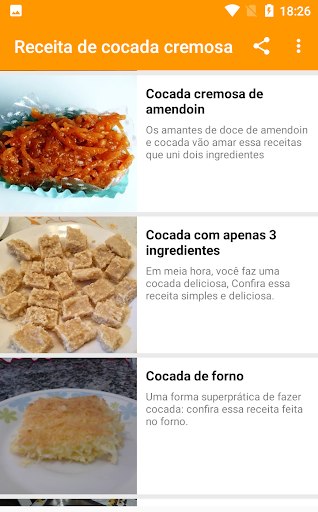 receita de cocada cremosa 1.0.5 screenshots 2
