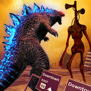 Monster Smash City  Godzilla vs Siren Head