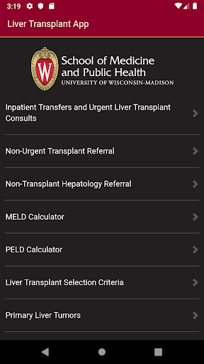 UW Liver Transplant 1.0 Screenshots 1