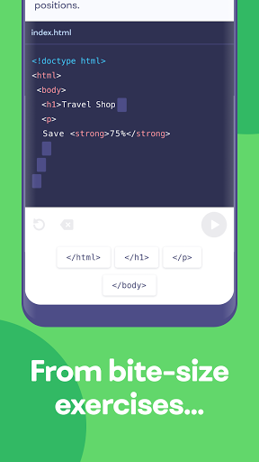 Mimo: Learn coding in HTML, JavaScript, Python android2mod screenshots 2
