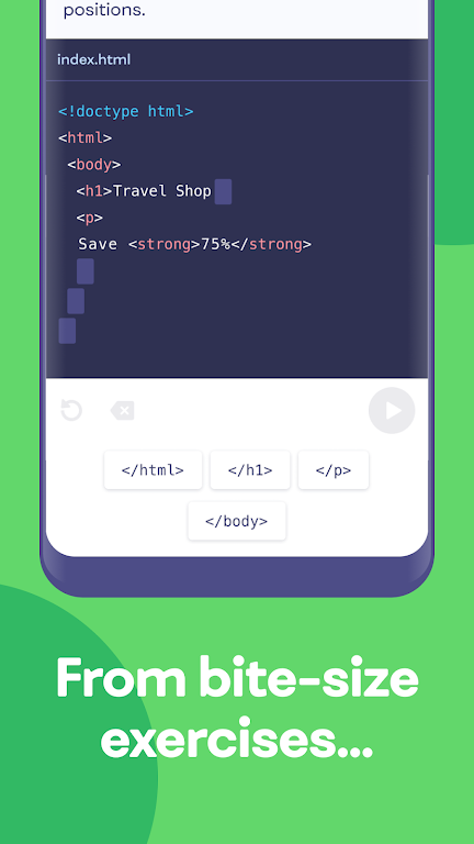 Mimo: Learn coding in HTML, JavaScript, Python poster 2