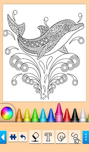Dolphin and fish coloring book 16.3.2 screenshots 19