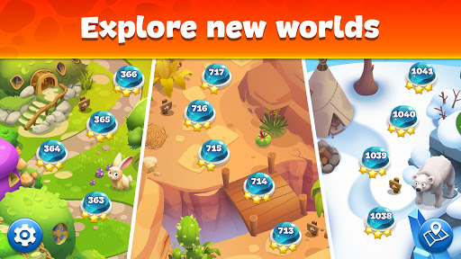 Gemmy Lands: Gems and New Match 3 Jewels Games apkslow screenshots 12