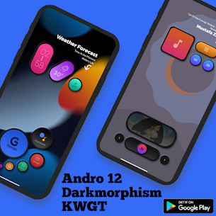 Andro 12 Darkmorphism KWGT Apk [PAID] Download 2