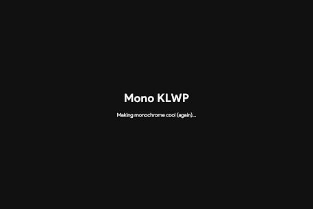Mono KLWP APK (PAID) Download Latest Version 6