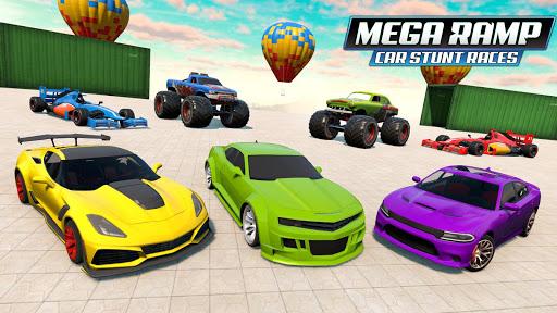 Mega Ramp Car Stunt Races - Stunt Car Games 2020 modavailable screenshots 6