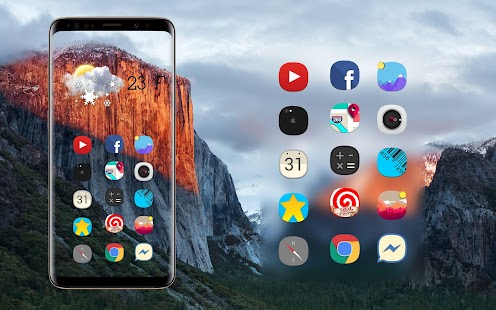 Theme android 10 Iphone Xr icon pack Concept ios Screenshot