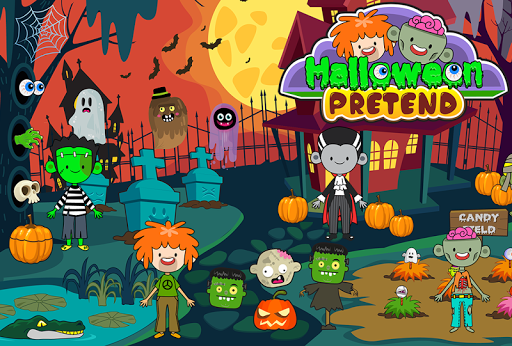 My Pretend Halloween - Trick or Treat Town Friends Apkfinish screenshots 6