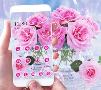 Pink Rose Love Theme 1.2.2 Android Mod + APK + Data 1