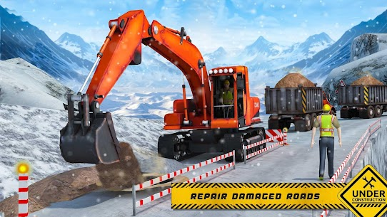 Snow Offroad Construction Excavator 4