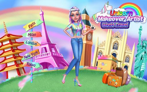 Unicorn Makeover Artist: World Travel  Screenshots 5