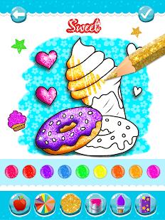 Glitter Ice Cream Coloring 5.4 Screenshots 18