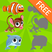 Animals Shadow Puzzles for Kids Free