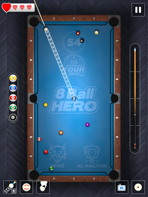 8 Ball Hero - Pool Billiards Puzzle Game  poster 7