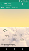 screenshot of HTC Weather