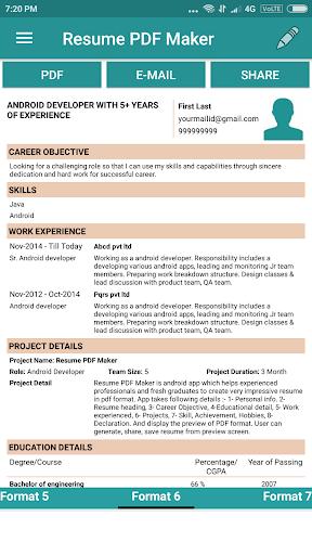 Resume PDF Maker / CV Builder 1.20 Screenshots 9