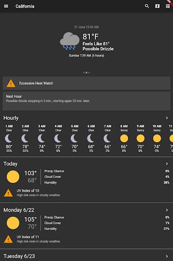 Shadow Weather: Hyperlocal forecast & radar  Screenshots 8