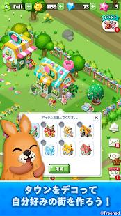 LINE Pokopan Town-Rabbit Pokota and healing town development! Exhilarating one-tap puzzle game