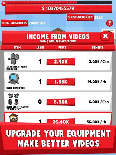 Tube Tycoon - Tubers Simulator Idle Clicker Game 1.61.6 Screenshots 5