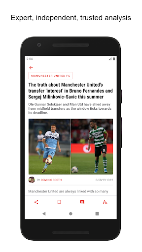 manchester united news screenshot 2