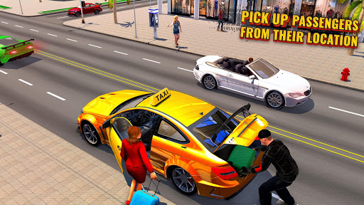 Télécharger Pro Taxi Driver : City Car Driving Simulator 2021 mod apk screenshots 5