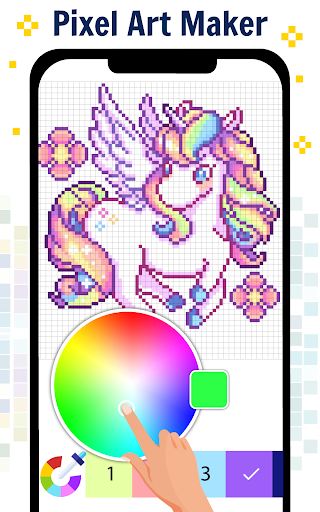 Pixel Art Color by number - Coloring Book Games 2.5 screenshots 5