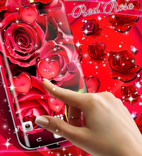 Red rose live wallpaper apktram screenshots 16