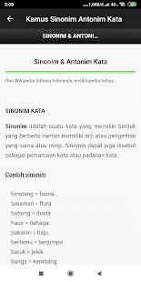Kamus Sinonim dan Antonim Kata Offline 3.1 screenshots 2