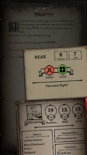 Fighting Fantasy Classics u2013 text based story game  screenshots 4