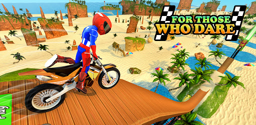 Beach Bike Stunts: Crazy Stunts and Racing Game apktreat screenshots 2