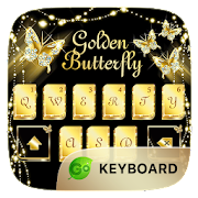 Golden Butterfly GO Keyboard Theme  Icon