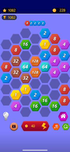 Number Merge 2048 - 2048 hexa puzzle Number Games 7.9.12 screenshots 2