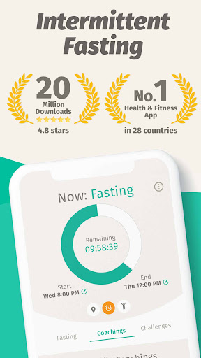 BodyFast Intermittent Fasting Tracker - Diet Coach android2mod screenshots 1