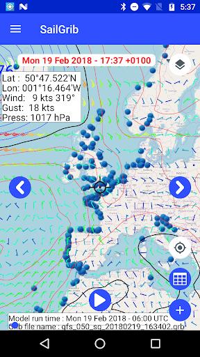 Marine Weather | SailGrib Free 2.0.1 Screenshots 4