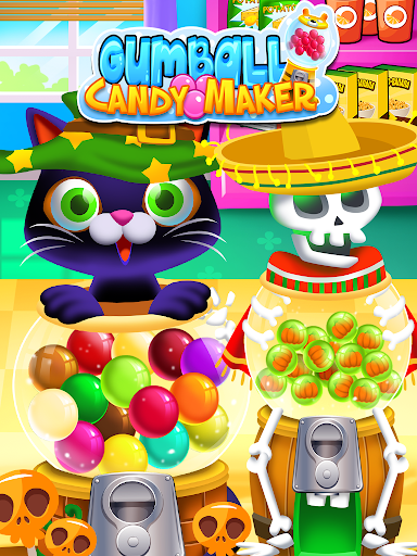 Bubble Gum Maker: Rainbow Gumball Games Free screenshots 2