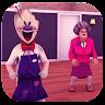 Ice Teacher Scream Scary 3D game apk icon