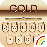 Gold Keyboard Golden Theme