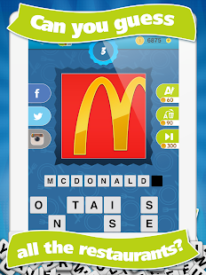 What's the Restaurant? Guess Restaurants Quiz Game
