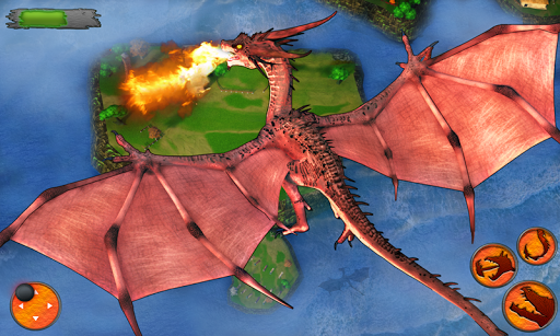 Flying Dragon Battle Simulator : City Attack  screenshots 2