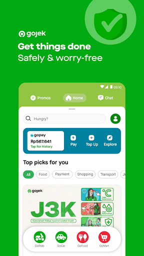 Gojek - Ojek Taxi Booking, Delivery and Payment android2mod screenshots 1
