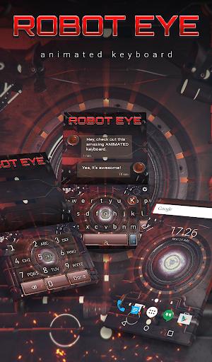 Robot Eye Animated Keyboard + Live Wallpaper 3.63 screenshots 1