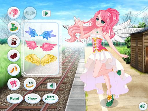 Dress Up Angel Anime Girl Game - Girls Games screenshots 1