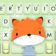 Cute Cartoon Fox Keyboard Theme